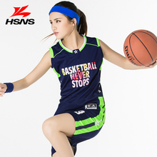 2017 New Basketball Jersey Uniform Women Suits Shirt and Short Pants Student Team Sports Vest Jersey Custom Clothing