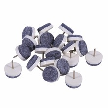 High Quality 20pcs/lot 24mm Nail-on Furniture Table Chair Leg Floor Protectors Felt Pad Slide 2 Colors Furniture Accessories(China)