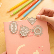 1Pcs American Super Heroes Personalized Metal Bookmark Superman Captain Batman Stationery Office School Supplies(China)