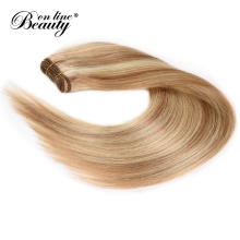 European Straight Hair Ombre Human Hair Blonde Bundles 100G/Piece P18/613 Highlight Color Beauty On Line Remy Hair Extensions