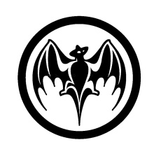 Bacardi Rum Vampire Bat  Sticker for Car Rear Windshield Truck SUV Bumper Auto Door Kayak Art Die Cut Vinyl Decal 10 Color