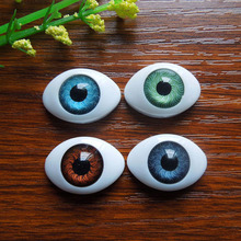 40Pcs(20pairs) Half Plastic Doll Eyes Mixed color BJD EYES, Oval Doll Dollfie Eyes Eyeballs Wholesale 16*22.5mm(China)