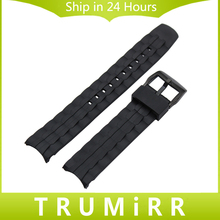 Silicone Rubber Watchband for EF550 EF552 Replacement Watch Band Stainless Steel Buckle Strap Wrist Belt Bracelet Black(China)
