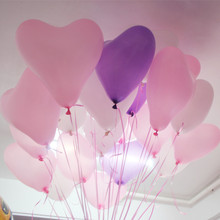 12 Inch 100 pc Red Heart Balloons Pink White Purple Latex Ballons Birthday Globos Wedding Birthday Party Decoration