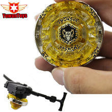 Hot Beyblade Metal Fusion 4D BB105 L Drago Gold Spinning Rapidity Beyblades Spin Top Toy Set Bey blade Spinner With Launcher(China)