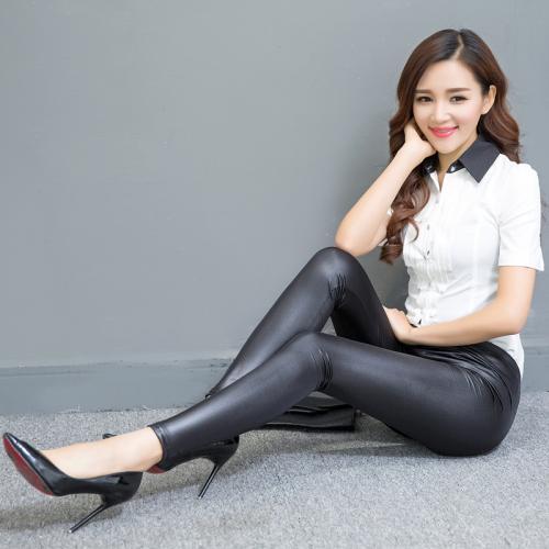 Spring-models-large-size-fashion-Black-Faux