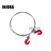1:10 RC Crawler Accessories Steel Tow Rope with Hooks for Axial SCX10 TAMIYA CC01 RC4WD D90 D110 TF2 RC Climbing Truck Car Parts(China)