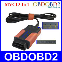 Best Quality MVCI 3 IN 1 OBD2 Reprogramming Tool M-VCI Scanner For TIS/HDS/Lexus//Volvo Dice Support Multi-Languages