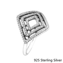 925 Sterling Silver Rings European Style Jewelry Geometric Lines Ring For Women Original Fashion Charms CKK(China)