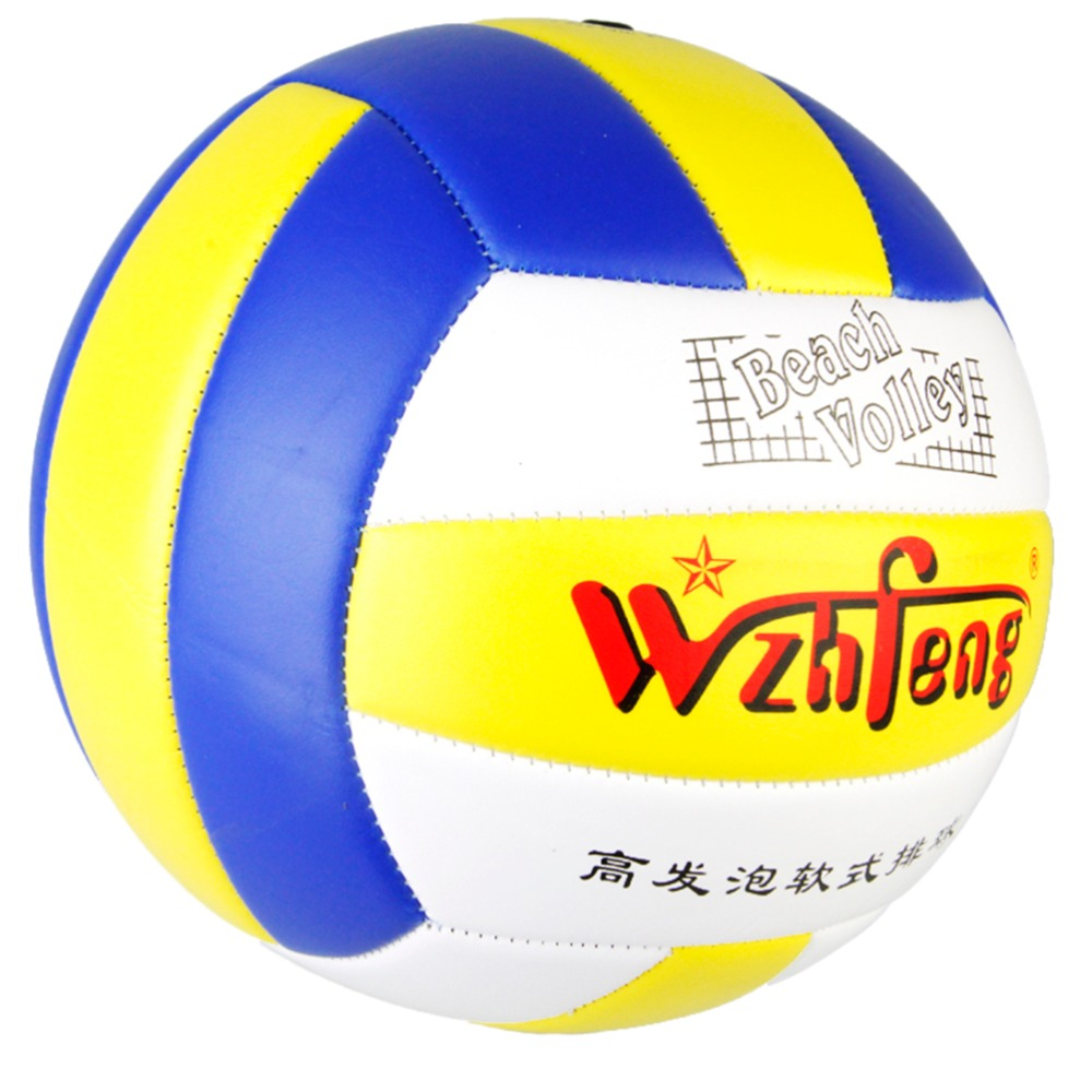 Size 5 Outdoor Sand Beach Volleyball Game Ball Thickened Soft PU Leather Volley Ball Match Training Volleyball Ball(China (Mainland))