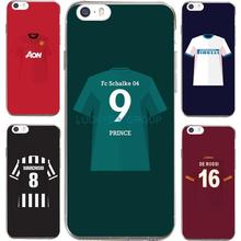 For IPhone7 7Plus 4 5S SE 6 6S Case For PSG MUFC Juventus Football Club Jersey Transparent Silicone soft slim Tpu Phone Cover