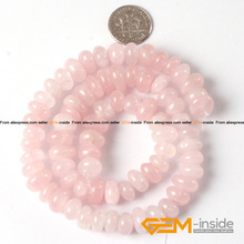 "8x12mm Freeform Shape Rose Quartzs Beads Natural Quart Beads DIY Loose Beads For Bracelet Making Strand 15"" Wholesale!(China)"