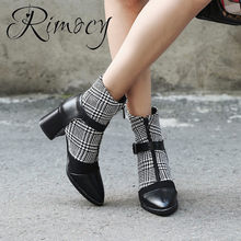 RIMOCY mix color ankle bots for women large size 2018 winter warm botas ladies  boots female high heels botines pointed toe shoes affff4600f5d