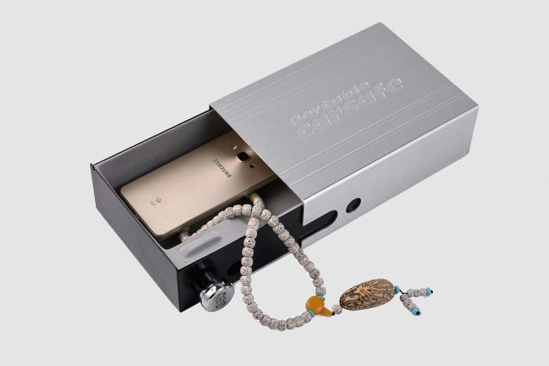 Car Safes Portable Safe Box Password Lock Safes Jewelry Cash Pistol Storage Box Aluminum alloy Security Strongbox Cable Fixed (20)