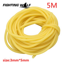 5M Natural Latex Tube Slingshot 3mmX5mm Yellow Color Replacement Band for Hunting Sling Shot Catapults Sling Rubber(China)