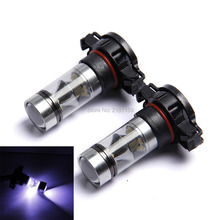 2Pcs high power H16 super bright car led fog light auto headlight DRL daytime running light driving lamp parking bulb 12V Xenon