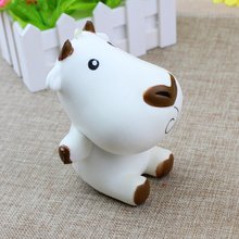 1 PCS Jumbo Cartoon Milk Cow Doll Squishy Slow Rising Bag Cell Phone Straps Charms Keychain Pendant Funny Kid Toy Gift P15(China)