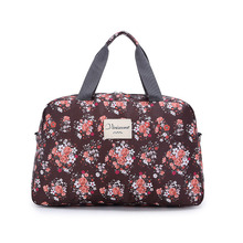 Short Trip Light Weight Travel Bags for Women Floral Print Bag Luggage Traveling Bags Duffle Bag Folding sac de voyage Q026