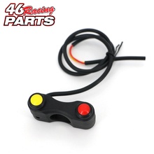 Two button Motorcycle switch/switches button For DUCATI Monster 696/749/796/821 Scrambler Multistrada 1200 Diavel 999 848 1098
