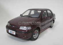 Color Red 1:18 Fiat Siena 2002 Simulation Miniature Cars Alloy Models