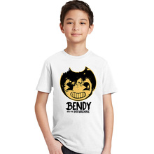 Bendy and The Ink Machine Children's T Shirt Infant Cotton O Neck Kid Tshirt Retro Toddler Clothes Boy Girl T-shirt for Baby(China)