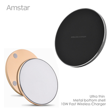 Buy 10W Qi Fast Wireless Charger Quick Wireless Mobile Phone Charger + TI-Chip Wireless Charging Receiver iphone & Android phone for $16.79 in AliExpress store