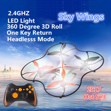 Best kids toy gift RC105 radio control helicopter 2.4ghz 6-axis 3 speeds control rc drone with 360 degree rotation RC quadcopter(China)