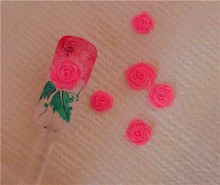 3D Beauty Nail Art Tool Rose Flower 3D Acrylic Nail Art Mold DIY Decoration