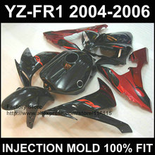 Racing bodywork for YAMAHA YZF R1 fairings 2004 2005 2006 YZF1000 1 YZFR 04 05 06 red black fairing Full injection(China)