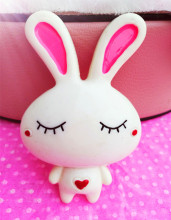 3pcs/lot Min.$15(Mixed Order)Cell Phone Case Resin Rabbit Dolls Decoration Colour Lovely Charms