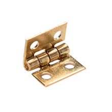10Pcs Mini Small Hinges for Dollhouse Miniature Cabinet Cupboard Furniture Drawer Butt Hinge copper(China)