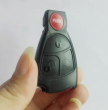 5PCS/LOT New Car Key Shell Rreplacements 3+1 Buttons 4 Buttons Remote Key Fob Case Cover For Mercedes Benz(China)