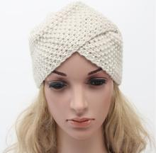 2016 New Fashion Ladies hats hair Accessory Winter Warm Bohemia Soft Knit hat Beanie Crochet Women India hat black beige