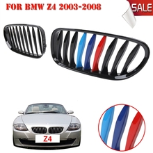 Gloss Black M color Front Kidney Grille Grill For BMW E85 E86 Z4 2003-2008 Convertible Coupe Car Lattice //