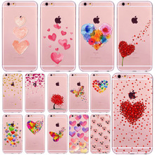 Fashion Girl's Beautiful Butterfly Love Hearts Phone Case For iPhone 7 7Plus 6 6s Plus SE 5 5s Silicon Slim Soft TPU Back Covers
