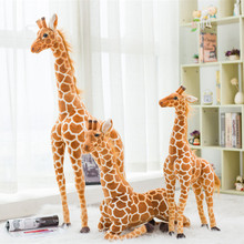 80CM Cute Giraffe Plush Baby Toy Stuffed Animal lovely Plush Giraffe Toy Simulation Doll Kids Birthday Gift