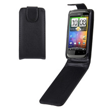 Newest High Quality Moblie Phone Cover Vertical Flip Up and Down Leather Case for HTC Desire S (G12)
