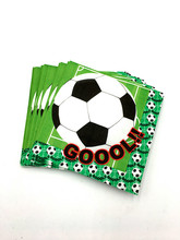 20pcs/lot football napkins kids birthday wedding party supplies football paper napkins happy birthday party supplies(China)