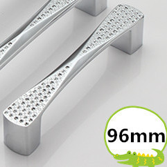 Hole Pitch 96mm/128mm silver color Dresser Drawer Pulls Cabinet Knobs And Handles Crystal Glass Furniture Handle<br><br>Aliexpress