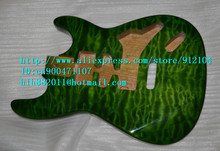 free shipping retail new stick flower basswood electric guitar body F-1445(China)