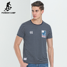 Pioneer Camp summer striped T-shirt men brand clothing fashion short T shirt male top quality stretch casual Tshirt ADT702128(China)