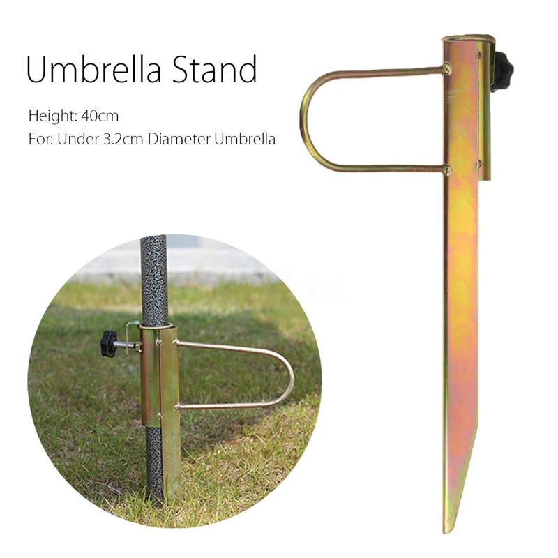 40cm Fishing Beach Umbrella Parasol Sand Anchor Stand Holder Garden Outdoor  Furniture Iron Patio Umbrellas Bases Mayitr