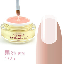 CANNI Wholesale Price Cover pink camouflage jelly nail extension UV Builder Gel Transparent Clear Nail Gel 15ml 25 Color Choice