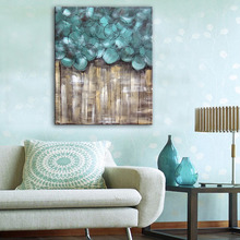 Free Shipping Hand Painting Oil Painting Blue Circle Fantasy Decoration Painting One Pcs Home Decor Modern Wall Prints