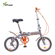 New Brand 14 inch Single/6 speed carbon steel V/Disc brake folding bike lady children bicicletas MBX bicycle(China)
