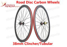 Disc Brake Carbon wheeset, 38mm Height Disc Brake carbon Wheels Clincher Tubular wheelset Road Bike Cyclocross Wheelset
