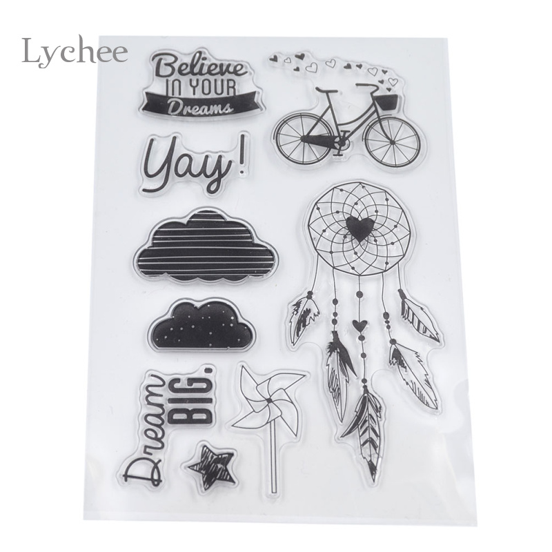 1 Piece DIY Letters Floral Cloud House Transparent Clear Rubber Stamp Seal Paper Craft Scrapbooking Decoration<br><br>Aliexpress