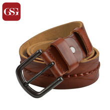 Buy GSG Mens LeatherBelt Handmade Woven Belts Needle Pin Buckle Cowhide Genuine Leather Belts Mens Males Punk Belt Wide Waist Belt for $23.99 in AliExpress store