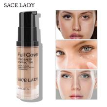 SACE LADY Face Concealer Makeup Liquid Corrector Base Foundation Make Up For Eye Dark Circles Facial Cream Proofreader Cosmetic(China)