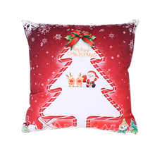 Ouneed Xmas Christmas Printing Dyeing Super Soft Fabric Sofa Bed Home Decor Pillow Cover Cushion Cover